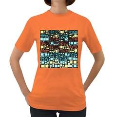 Block On Block, Aqua Women s Dark T Shirt