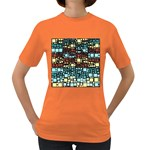 Block On Block, Aqua Women s Dark T-Shirt Front