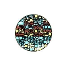 Block On Block, Aqua Hat Clip Ball Marker