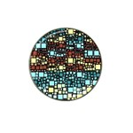 Block On Block, Aqua Hat Clip Ball Marker Front