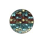 Block On Block, Aqua Hat Clip Ball Marker Front