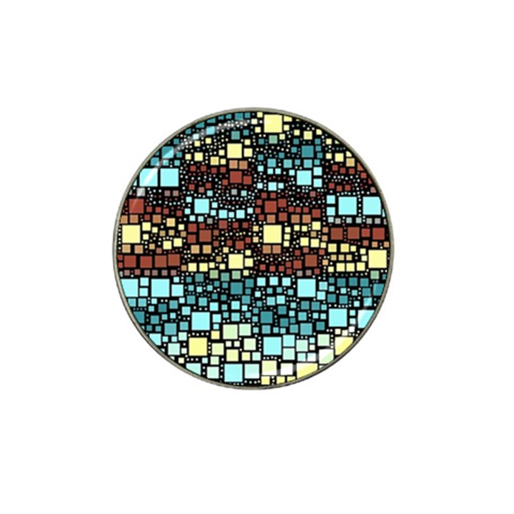 Block On Block, Aqua Hat Clip Ball Marker