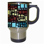 Block On Block, Aqua Travel Mugs (White) Right