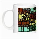 Block On Block, Aqua Night Luminous Mugs Left