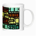 Block On Block, Aqua Night Luminous Mugs Right