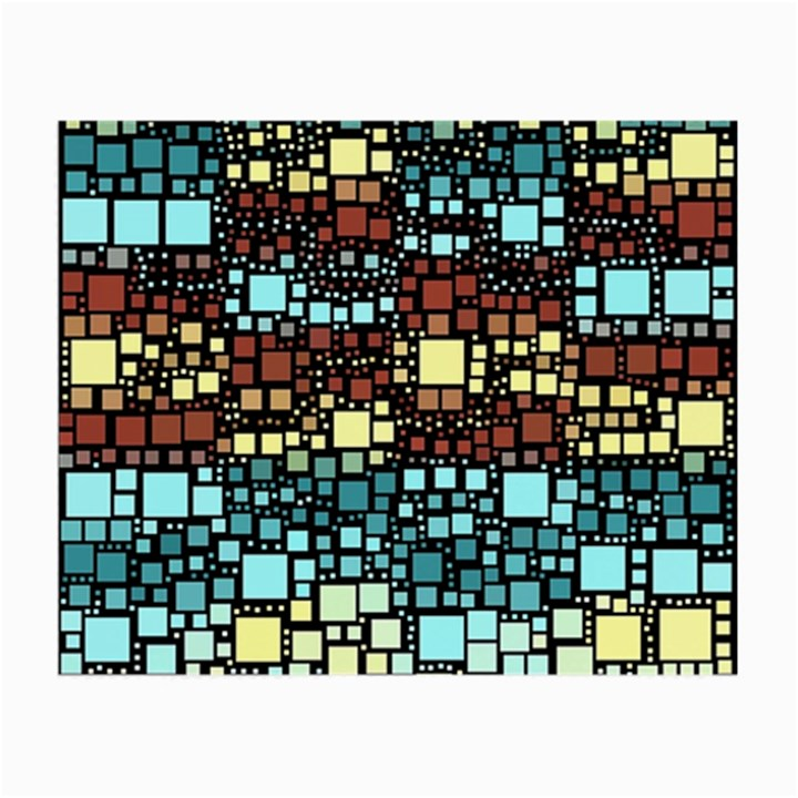 Block On Block, Aqua Small Glasses Cloth