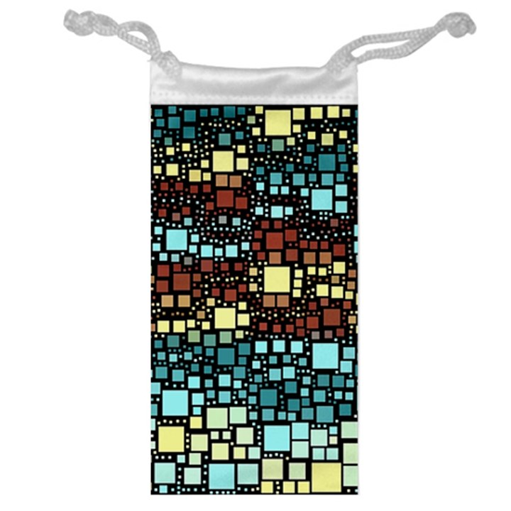 Block On Block, Aqua Jewelry Bags