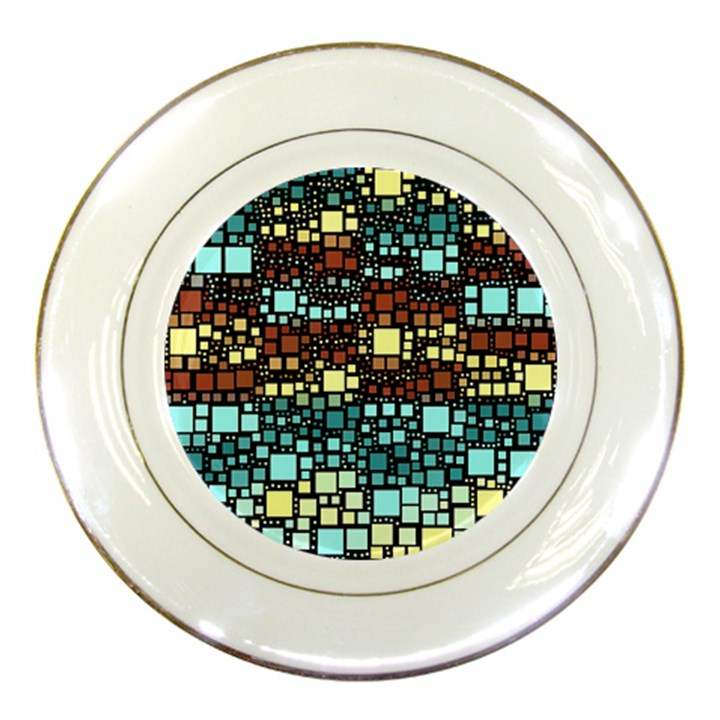 Block On Block, Aqua Porcelain Plates