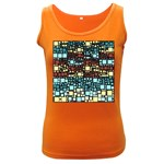 Block On Block, Aqua Women s Dark Tank Top Front