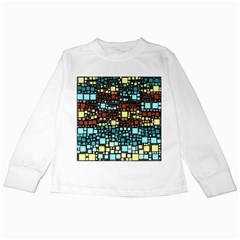 Block On Block, Aqua Kids Long Sleeve T-Shirts