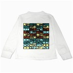 Block On Block, Aqua Kids Long Sleeve T-Shirts Back