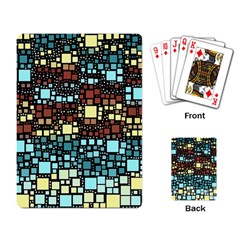 Block On Block, Aqua Playing Card
