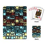 Block On Block, Aqua Playing Card Back