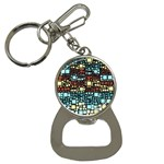 Block On Block, Aqua Bottle Opener Key Chains Front