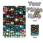 Block On Block, Aqua Playing Cards 54 Designs  Front - HeartQ