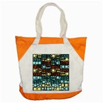 Block On Block, Aqua Accent Tote Bag Front