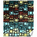 Block On Block, Aqua Canvas 8  x 10  10.02 x8 Canvas - 1