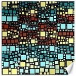 Block On Block, Aqua Canvas 16  x 16   16 x16 Canvas - 1
