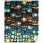 Block On Block, Aqua Canvas 16  x 20   20 x16 Canvas - 1