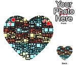 Block On Block, Aqua Playing Cards 54 (Heart)  Front - HeartJ
