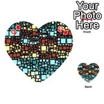 Block On Block, Aqua Playing Cards 54 (Heart)  Front - DiamondQ