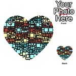 Block On Block, Aqua Playing Cards 54 (Heart)  Front - ClubQ