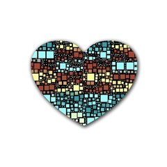 Block On Block, Aqua Rubber Coaster (Heart)