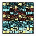 Block On Block, Aqua Medium Glasses Cloth (2-Side) Front