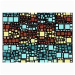 Block On Block, Aqua Large Glasses Cloth Front
