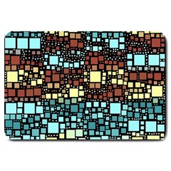 Block On Block, Aqua Large Doormat