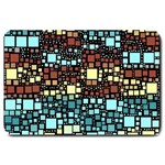 Block On Block, Aqua Large Doormat  30 x20 Door Mat - 1