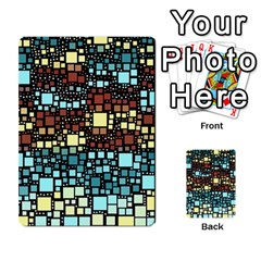 Block On Block, Aqua Multi Purpose Cards (rectangle)