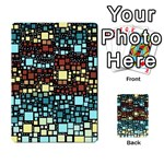 Block On Block, Aqua Multi-purpose Cards (Rectangle)  Back 9