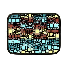 Block On Block, Aqua Netbook Case (Small)
