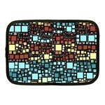 Block On Block, Aqua Netbook Case (Medium)  Front