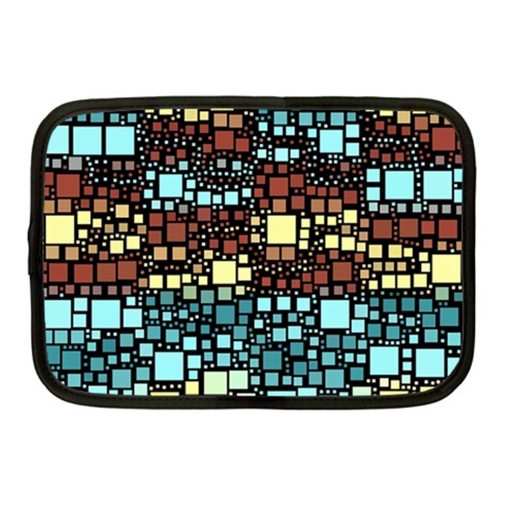 Block On Block, Aqua Netbook Case (Medium)