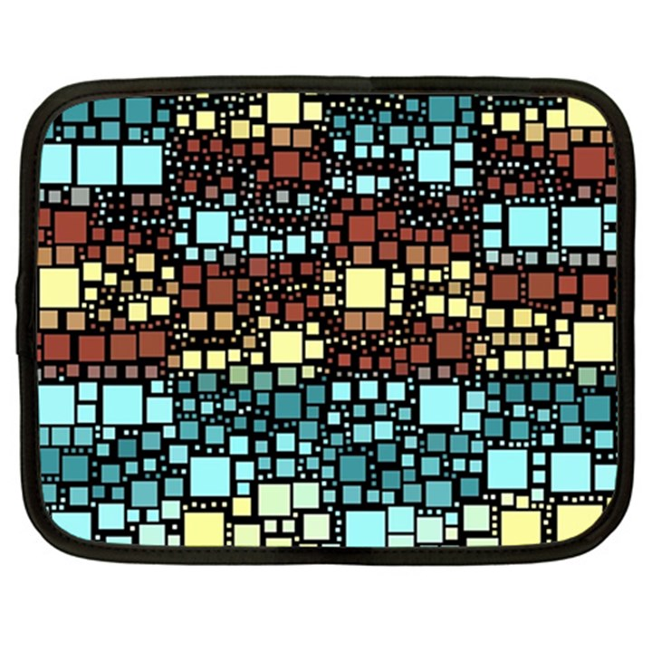 Block On Block, Aqua Netbook Case (Large)