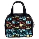 Block On Block, Aqua Classic Handbags (2 Sides) Front