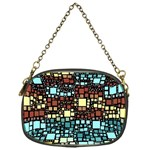 Block On Block, Aqua Chain Purses (One Side)  Front