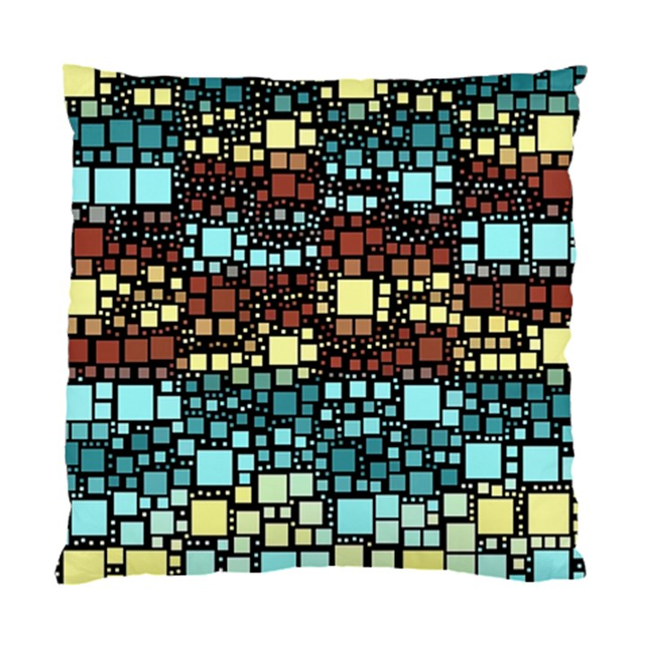 Block On Block, Aqua Standard Cushion Case (Two Sides)