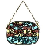Block On Block, Aqua Chain Purses (Two Sides)  Front