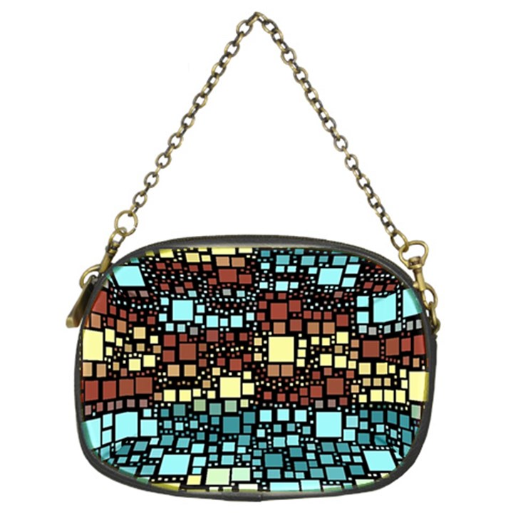 Block On Block, Aqua Chain Purses (Two Sides)