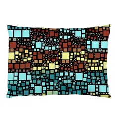 Block On Block, Aqua Pillow Case