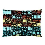 Block On Block, Aqua Pillow Case 26.62 x18.9 Pillow Case