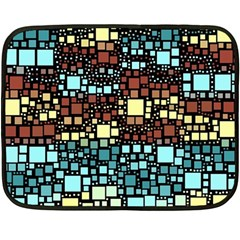 Block On Block, Aqua Fleece Blanket (mini)