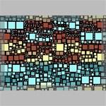 Block On Block, Aqua Canvas 18  x 12  18  x 12  x 0.875  Stretched Canvas