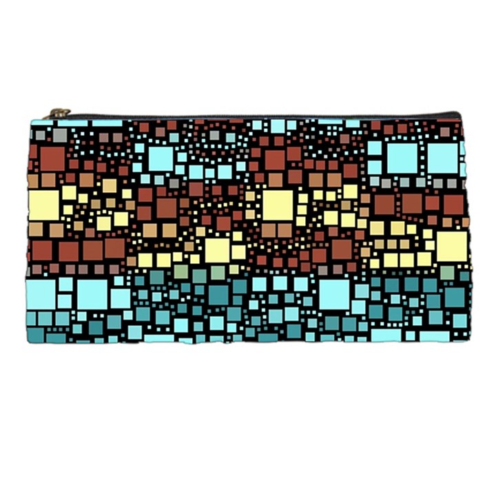 Block On Block, Aqua Pencil Cases