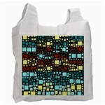 Block On Block, Aqua Recycle Bag (Two Side)  Front