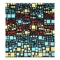 Block On Block, Aqua Shower Curtain 66  X 72  (large)