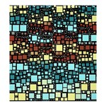 Block On Block, Aqua Shower Curtain 66  x 72  (Large)  58.75 x64.8 Curtain